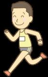 マラソンをする男性のイラスト